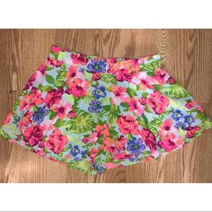 Charlotte Russe tropical neon shorts